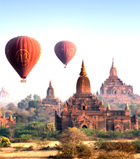 Bagan, an ancient city in Mandalay