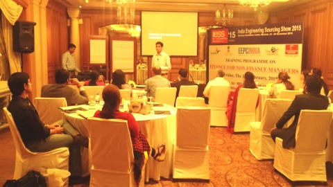 Mr. Anuraag Gupta, Speaker of the Programme making presentation on Finance for Non Finance Manager