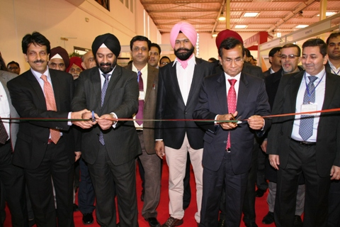 Inauguration of the 26th INDEE by HE Ambassador with Mr Aman Chadha, Chairman, EEPC India and Mr Pankaj Chadha, Regional Chairman – West