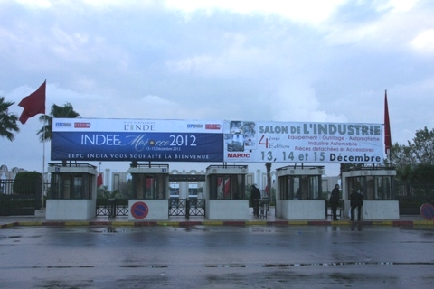 INDEE branding outside the exhibition centre