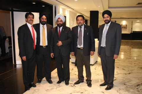 Mr Sarvjit Singh, First Secretary (Comm), Indian Embassy, Rabat (third from right) with Team EEPC India