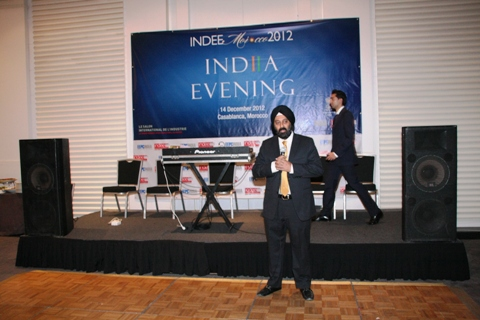 The Chairman, EEPC India welcomes all in India Evening