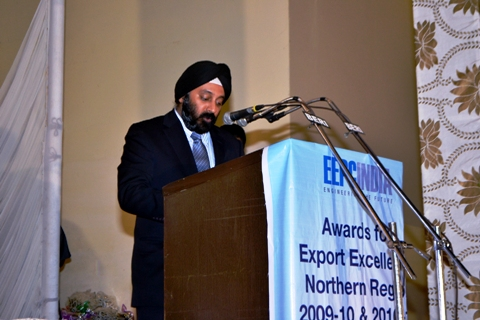 Mr Aman Chadha, Chairma, EEPC INDIA speaking on the occassion
