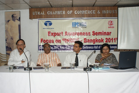 From L to R  Mr Ramesh Mahapatra, President, Utkal Chamber of Commerce Industry,...
