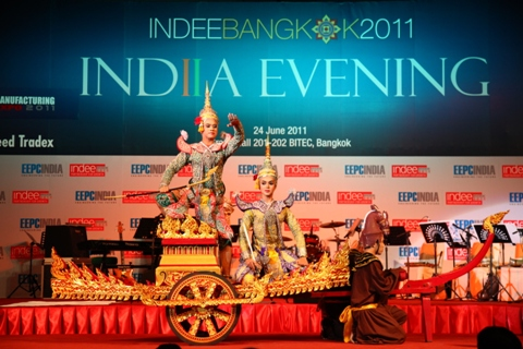 Views of Mask Dance performed by Thai dancers on India Evening during INDEE Bangkok