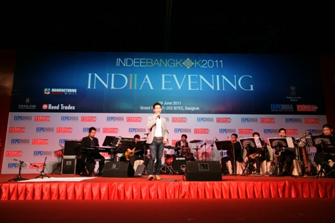 A Thai singer performing during India Evening