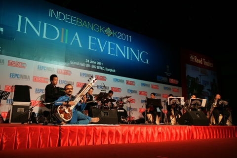 Performacne by an Indian Sitarist during India Evening