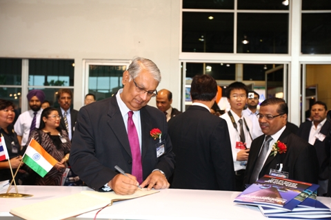 HE Mr P R Chakravarty, Ambassador of India in Thailand in EEPC INDIA Theme Pavilion