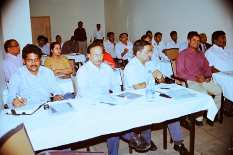 Section of the gathering at the INDEE Bangkok Presentation on 20 April 2011 at Hyderabad
