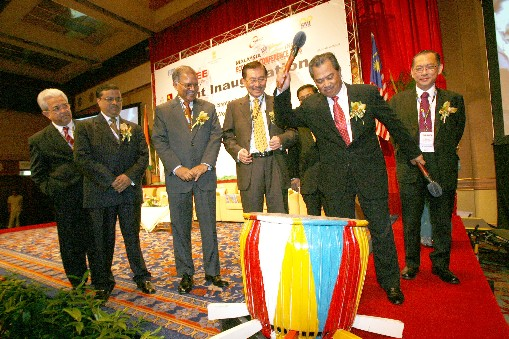 YB Tan Sri Dato` Muhyiddin Mohd Yassin, Minister of International Trade & Industry, Malaysia officially inaugurates the event by...