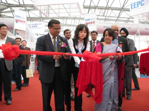 During the inauguration INDEE Shanghai 2008 Her Excellency Mrs. Riva Ganguly Das, Council General of India in Shanghai