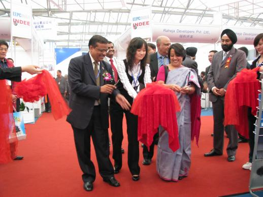 During the inauguration INDEE Shanghai 2008 Her Excellency Mrs. Riva Ganguly Das, Council General of India in Shanghai &...