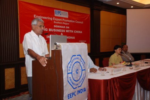 Shri K.Kasturirangian, Chairman- Functional Commitee, Coimbatore delivering Welcome Address