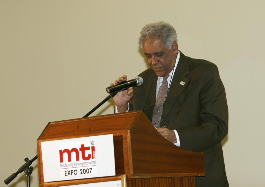 Dr. Goolam Essop Pahad, Minister in Presidency, South Africa addressing at the inauguration of INDEE 2007