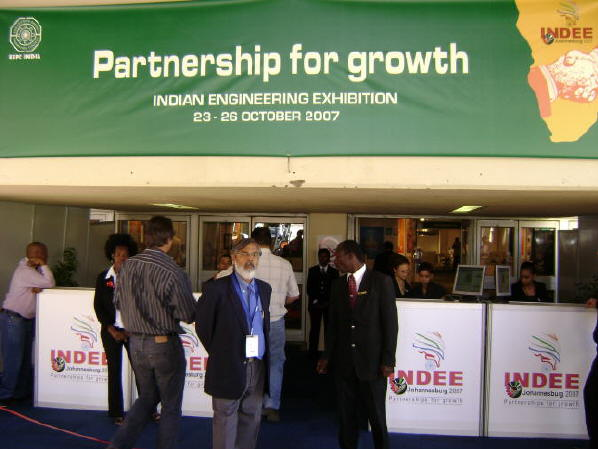 The entrance to the exhibition hall at the INDEE 2007