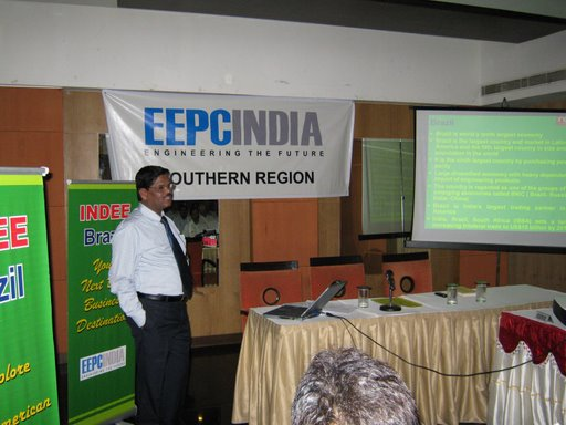 During Powr Point Presentation on INDEE, Brazil by Shri M.Ganesan, Regional Director..
