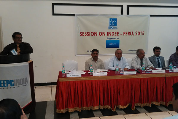 Mr. C H Nadiger, Regional Director, EEPC INDIA making a Presentation on INDEE Peru