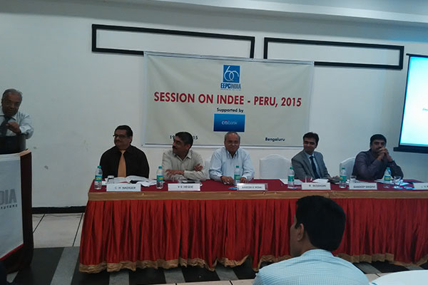 Mr. R Seshagiri, Dy. Regional Chairman, EEPC INDIA, giving the concluding remarks