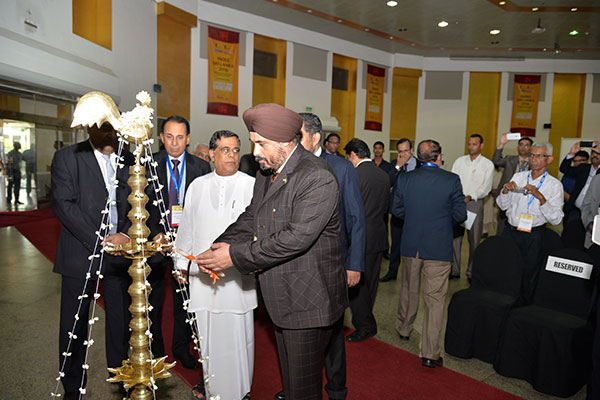 Mr. T. S. BHASIN, CHAIRMAN, EEPC INDIA LIGHTING THE SRI LANKAN TRADITIONAL OIL LAMP