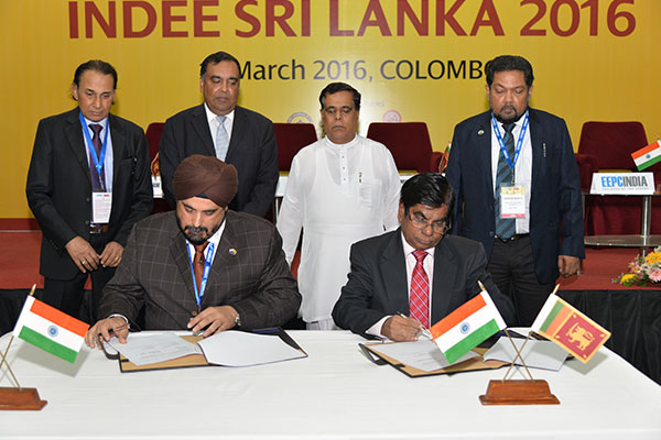 MOU BEING SIGNED BETWEEN EEPC INDIA AND THE NATIONAL CHAMBER OF COMMERCE OF SRI LANKA