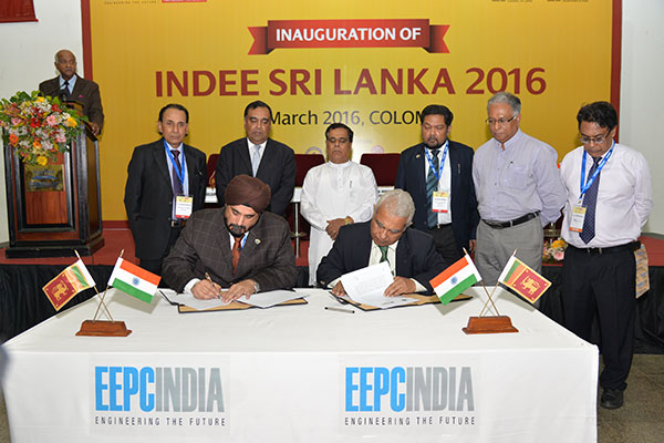 MOU BEING SIGNED BETWEEN EEPC INDIA AND CEYLON NATIONAL CHAMBER OF INDUSTRY