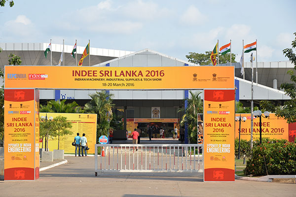 Entrance of Exhibition Hall of INDEE Sri Lanka 2016