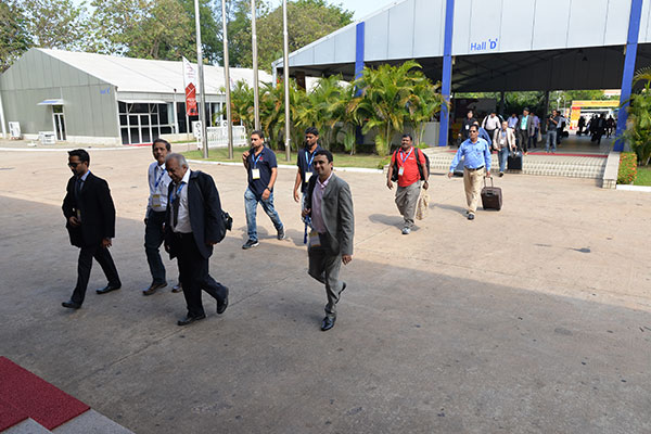 Exhibitors arriving at INDEE Sri Lanka 2016