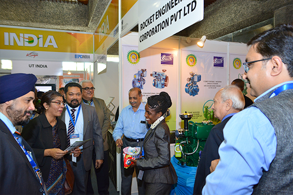 Ms. Suchitra Durai, High Commissioner of India to Kenya and Permanent Representative to UNEP & UN-HABITAT taking a tour