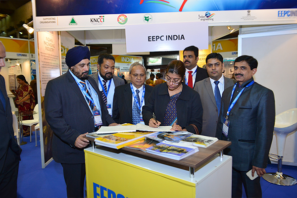 Ms Durai at EEPC India booth