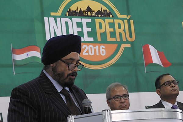 Mr T S Bhasin, Chairman, EEPC India speaking during the inauguration of Indian Engineering Exhibition in Lima, Peru  on 24th November 2016on this occasion