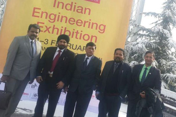 L TO R : Mr Rajat Srivastava, Regional Director (WR), EEPC India; Mr T.S.Bhasin, Chairman, EEPC India; Mr Krishanlal Dhingra, Regional Chairman (WR), EEPC India; Mr Bhaskar Sarkar, Executive Director & Secretary, EEPC India and Mr Mukul Khandelwal, Committee on Trade with West Asia other than GCC countries,EEPC India