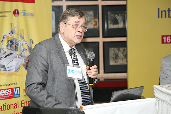 H.E. Sergey L. Kotov, Consul General of the Russian Federation in Chennai addressing the gathering