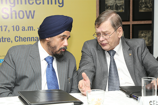 Shri T S Bhasin, Chairman, EEPC India deliberating with H.E. Sergey L. Kotov, Consul General of the Russian Federation in Chennai
