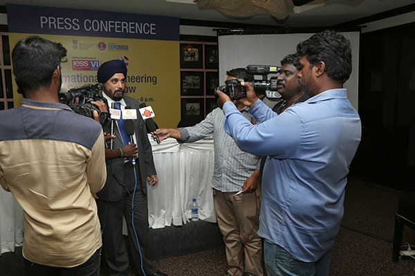 Shri T S Bhasin, Chairman, EEPC India, addressing TV Media