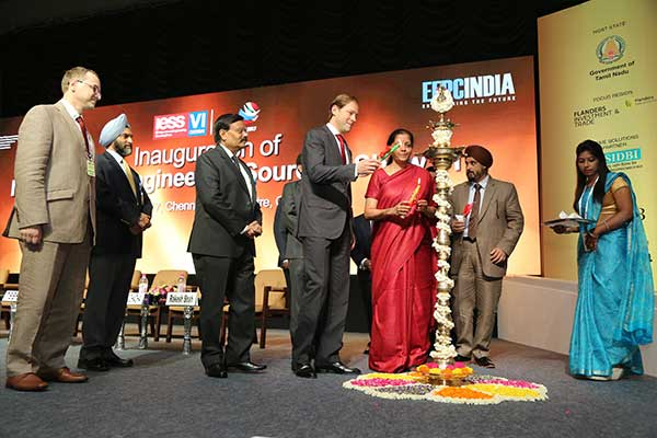 Lighting the lamp by Mr. Denis Manturov, Minister of Industry and Trade of the Russian Federation