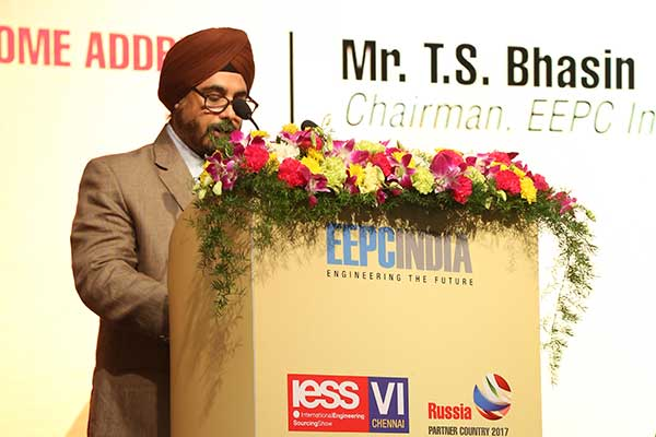 Welcome address by Mr. T. S. Bhasin, Chairman, EEPC India