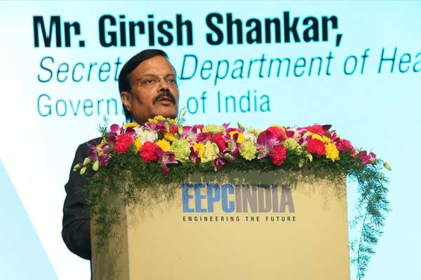 Mr. Girish Shankar, Secretary, Department of Heavy Industry, Govt. of India is delivering his speech during the inauguration of International Engineering Sourcing Show (IESS) VI