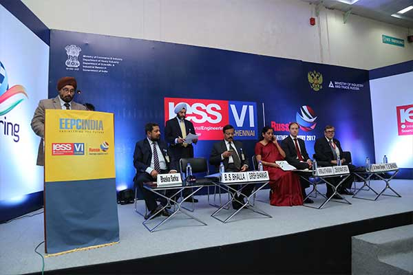 Welcome address by Mr. T. S. Bhasin, Chairman, EEPC India in Press Conference during the inauguration of International Engineering Sourcing Show (IESS) VI