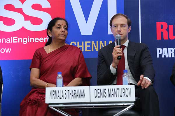 Joint Press Conference by Mr. Denis Manturov, Minister of Industry and Trade of the Russian Federation & Ms. Nirmala Sitharaman, Minister of State (Independent Charge) for Commerce & Industry, Govt. of India