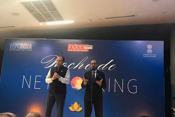 Mr Ravi Sehgal, Chairman, EEPC India addressing the India Networking dinner