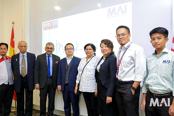 Mr Madani Sahari , CEO, Malaysia Automotive Institute (MAI), is an agency under the Ministry of International Trade and Industry (MITI).)  meets Ms Anima Pandey, Regional Director ( ER) & Director ( Membership) , EEPC India  and Mr Sooraj Dhawan, Director, Falcon Exhibitions Pvt Ltd