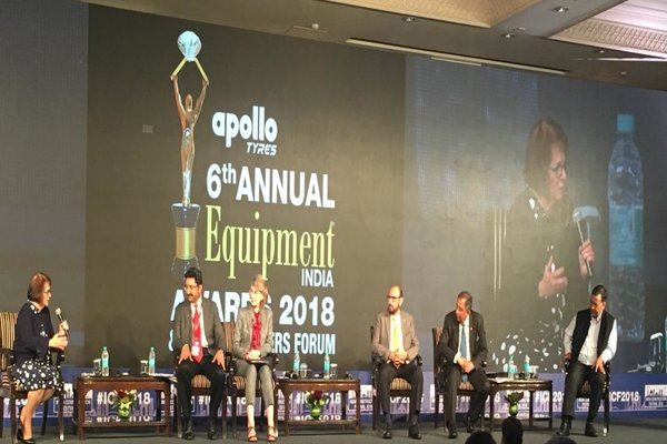 Names left to right  Ms. Janice Tuchman, Engineering News-Record, Mr. Sunil Takyar, Bechtel India, Ms. Elizabeth king, Mott MacDonald, Mr. Ravi Sehgal, Chairman, EEPC India, Mr. D. K. Sen, L&T and Mr. Rohit Modi, Essel Infraprojects Ltd.