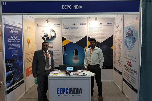 Mr. Mukesh Samtani, Assistant Director, EEPC India, Regional Office, Mumbai and Mr. Jarvis F Chettiar, EEPC India, Regional Office, Mumbai are seen at EEPC India booth.