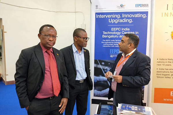 Mr. Mukesh Samtani, Assistant Director, EEPC India, Regional Office, Mumbai with Mr. Kpodar Messanvi and Mr. Kondi Mani from Embassy of The Republic of Togo.