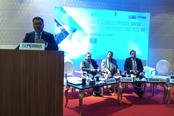Mr. Rakesh Suraj, Regional Director (N.R.), EEPC India addressing the audience