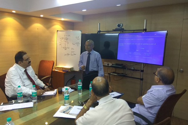 Speaker Mr. Arvind Khedkar imparting his training to the participants