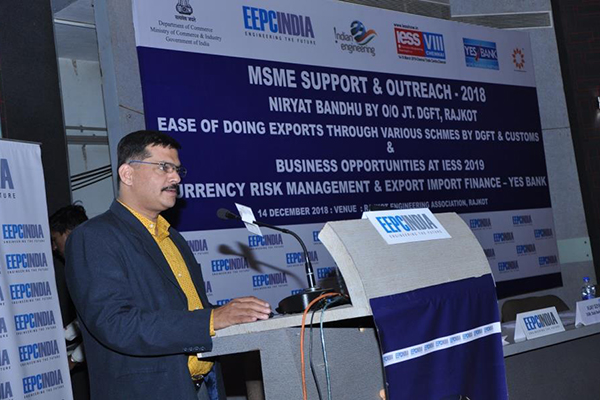 Mr S Nair, Dy. Director, EEPC India, Ahmedabad welcoming the guests