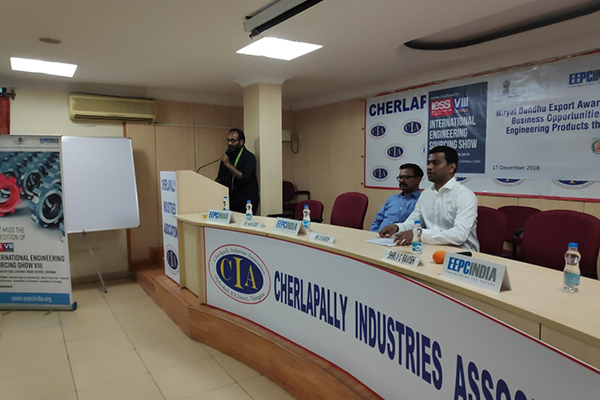 Welcome Address by Mr.  Harish Reddy President of Chelapally Industries Association Hyderabad.