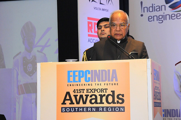 Chief Guest H.E. Mr Banwarilal Purohit, Hon`ble Governor of Tamil Nadu delivering the keynote address