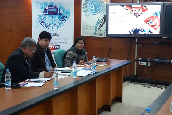 Ms. Anima Pandey, Regional Director (ER) & Director (Membership), EEPC India giving presentation on business and export opportunities at IESS VIII.